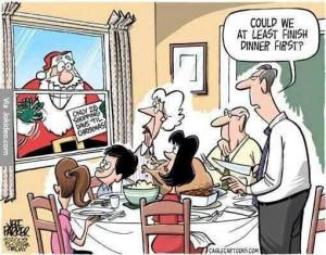 Funny Christmas Santa cartoon picture joke 2014 to 2015