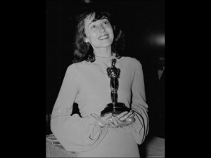 Actress Luise Rainer Holding Her Best Actress Oscar During the Academy ...