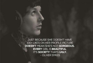 Oliver Sykes - quote on beauty #BMTH