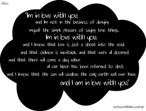 ... Quotes About Love: The Fault In Our Stars A Teenage Quotes About Love