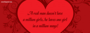 Real Man Doesnt Love A Million Girls Facebook Cover Layout