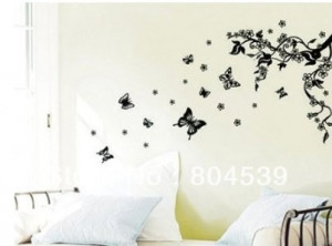 recycling wall sticker decals black tree.. quotes and sayings Wall ...