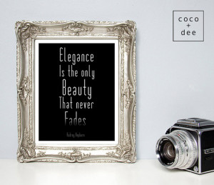Fashion quote, quote print, Audrey Hepburn, typography print ...