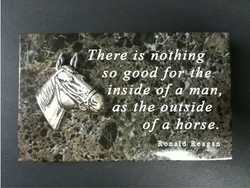 Ronald Reagan Horse Quote Paperweight