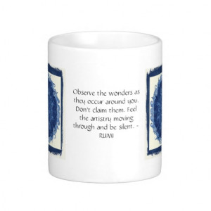 Rumi sayings and quotes about WONDERS Coffee Mugs