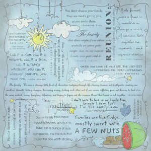 ... - Religious Collection - 12 x 12 Paper - Quotes - Family Reunion
