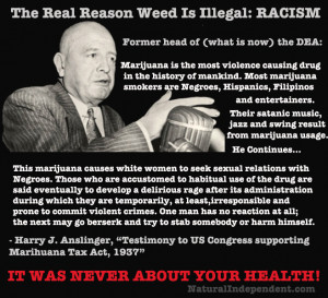 Harry Anslinger testified that marijuana induces homicidal mania, but ...