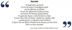 Ralph Waldo Emerson Quotes Success