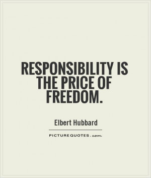 Inspirational Quotes About Responsibility