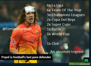 Puyol has decided to leave and retire soon!! #Legend