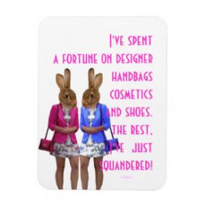 Funny womens shopping humor quotation rectangular magnet