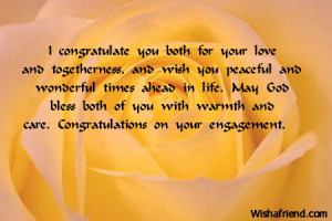 engagement congratulations poems
