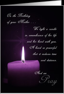 In Remembrance of Your Mother on Her Birthday card - Product #934005