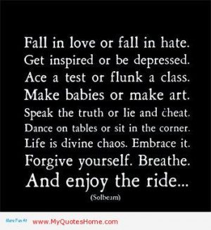 Fall In Love Or Fall In Hate Get Inspired Or Be Depressed Ace A Test ...