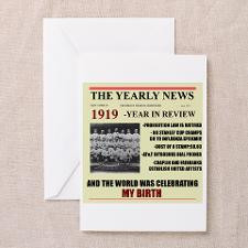 born in 1919 birthday gift Greeting Card for