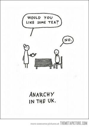 funny English men drinking tea