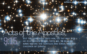 Bible Quote Acts of the Apostles 9:15 Inspirational Hubble Space ...