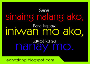 Banat Quotes Tagalog Words...