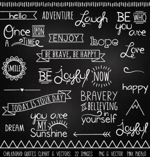Quotes Clipart Clip Art, Chalk Board Words Clipart Clip Art Vectors ...
