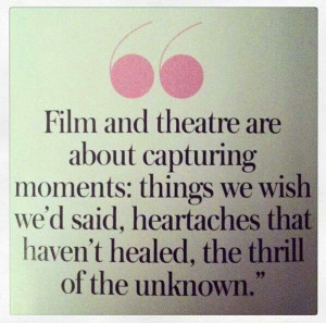 Film and theatre quote