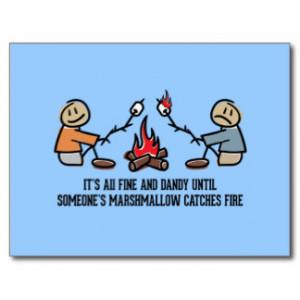 Camping Sayings Postcards