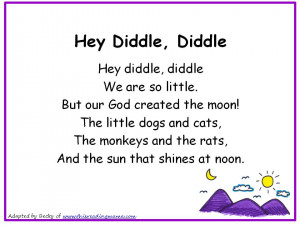 Hey Diddle Diddle Christian Nursery Rhyme Short Love Poems That Rhyme