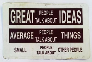 Small people talk about other people (celebrities, themselves).