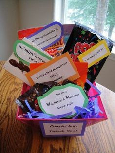 coach thank you gift Candy and sayings: MM's- You are a Magnificent ...