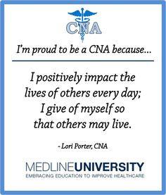 Funny Cna Quotes Lori porter, cna #cnas #quotes