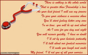 Get well soon quotes and poem for friendship
