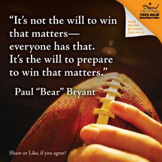 ... win that matters paul bear bryant # motivation # inspiration bear