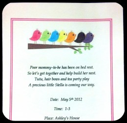 Party Ideas for a Bird Themed Baby Shower