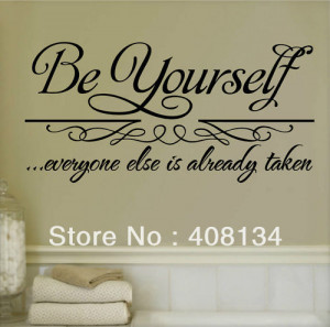 SHIP #TH1009 Be Yourself Wall Decor Vinyl Removable wall Sticker Quote ...