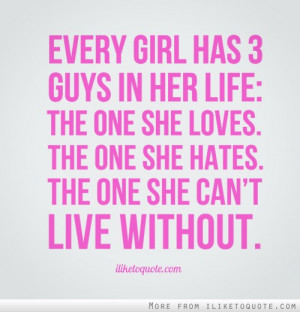 ... her life: The one she loves. The one she hates. The one she can't live