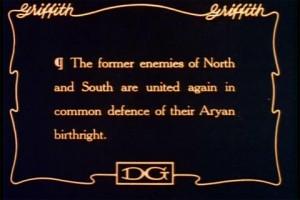 Carton extrait de Naissance d'une nation de D.W. Griffith