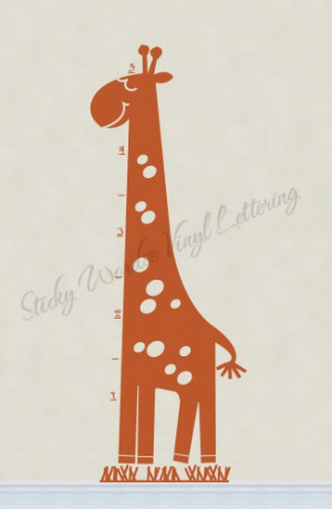 Height Giraffe 23x64 Vinyl Lettering Wall Quotes Words Sticky Art