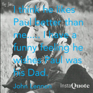 John Lennon quote about Julian.