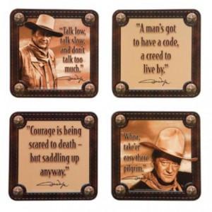 John Wayne Coaster Set - Cork Style