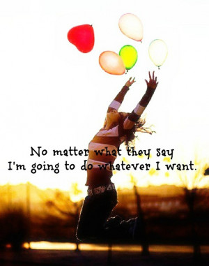balloons, free, freedom, girl, jump, quotes