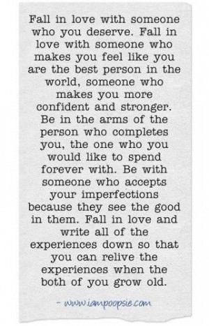 fall in love with someone who you deserve fall in love with someone ...