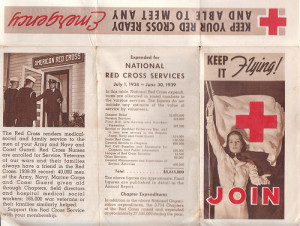 Red Cross Brochure Exterior by Smitten with Kittens