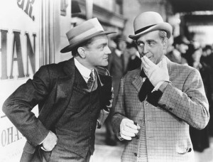 James Cagney (left) and Eddie Foy, Jr., in Yankee Doodle Dandy (1942).