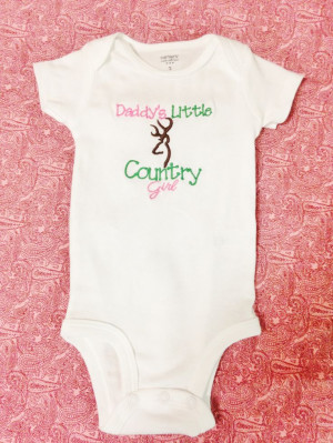 Daddy's Little Country Girl – Deer Hunting Baby Onesie or Shirt