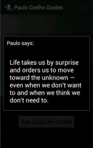 Aumentar - Captura de pantalla de Citas de Paulo Coelho para Android