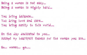 Women's Day - 8th March SMS Messages. Poems. Quotes. Celebrate Womens ...
