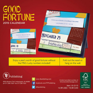 ... | Inspirational > Inspirational Quotes >Good Fortune Desk Calendar