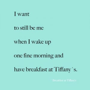 Breakfast at Tiffany's - Quotes - Typography - Home Decor - Wall Decor ...