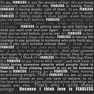 FEARLESS Taylor Swift quote