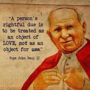 Pope John-Paul II quote
