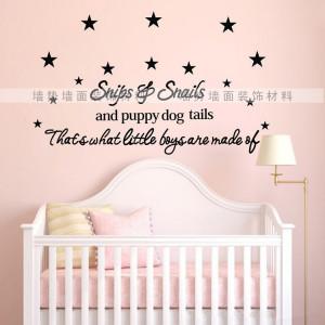 Little Star Quote wall sticker baby boy Kid Room Vinyl Stickers ...